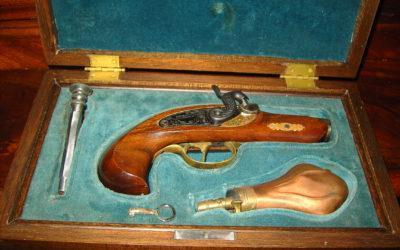 """Pistolet Réplique 44 PERCUSSION.+ COFFRET """"DERRINGER"""""""